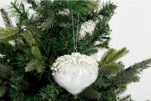 Flamant - wei - Weihnachtskugel
