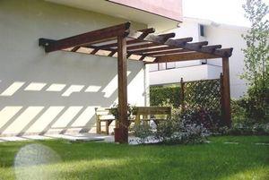Holzgarden -  - Beigefügten Pergola