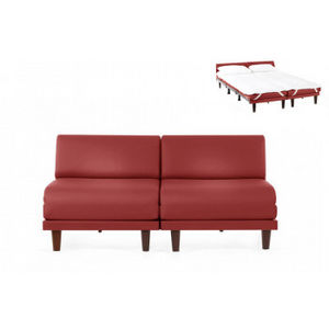 Likoolis - cuir artificiel rouge - Schlafcouch