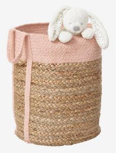 Vertbaudet - osier/rose - Spielzeug Tasche