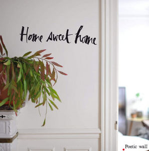 POETIC WALL - home sweet home - Sticker