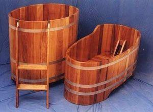 Bistrotische - holzfass badewanne sauna tonne - Holzbadewanne