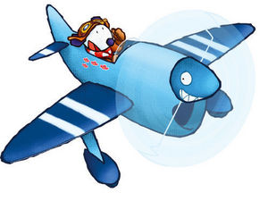 DECOLOOPIO - bali avion - Kinderklebdekor