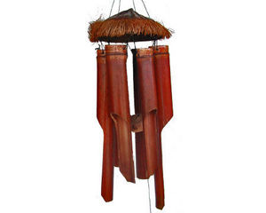 Tribaldeco - carillon cocoavec cheveux en bambou h=50cm - Windspiel