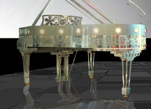 Gary Pons France - gary pons sy186 plexart - 1/4 Flügel Klavier