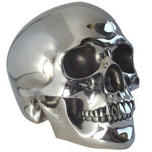 BO - crâne chromé - Deko Schädel