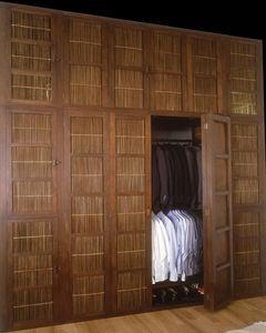 Matahati - penderie teck et bambou sur mesure - Garderobenschrank