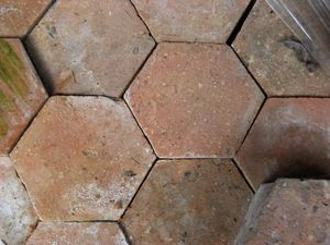 VESTIGES DE FRANCE - tomette ancienne - Bodenfliese, Terrakotta