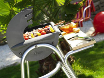 INVICTA - machine à grillade managuna pour brochette - Holzkohlegrill