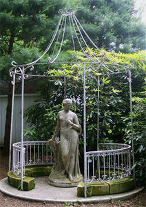 BARBARA ISRAEL GARDEN ANTIQUES - wrought-iron and stone folly - Gloriette