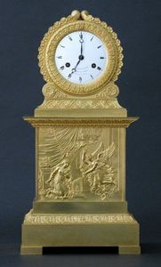 CHARLES AND REBEKAH CLARK - an empire clock - Tischuhr