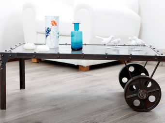 Miliboo - chariot table basse - Originales Couchtisch