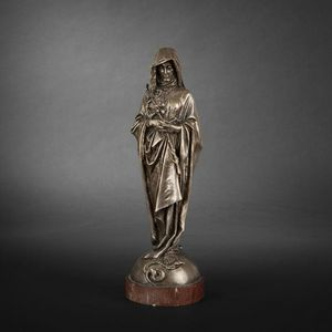 Expertissim - vierge en bronze par fremiet - Kleine Statue