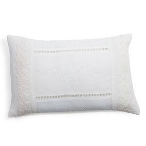 Maisons du monde - coussin valège blanc - Rechteckige Kissen