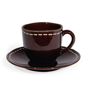 MAISONS DU MONDE - tasse et soucoupe à café sellier - Kaffeetasse