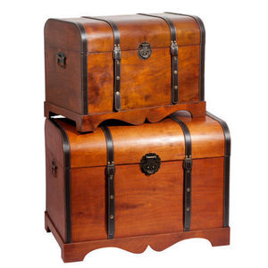 MAISONS DU MONDE - assortiment de 2 coffres safari - Kofferschrank