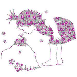 ART STICKER - sticker princesse liberty - Kinderklebdekor