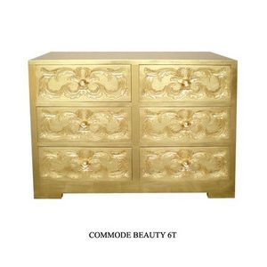 DECO PRIVE - commode en bois dore beauty - Kommode