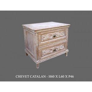 DECO PRIVE - chevet en bois ceruse modele catalane - Nachttisch
