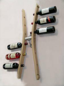 Douelledereve - porte bouteilles double en chêne finition naturell - Flaschenregal