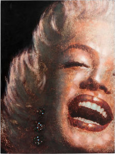 KOKOON DESIGN - toile peinte marylin smile structure bois 90x120cm - Dekobilder