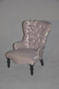 Demeure et Jardin - fauteuil feuilles mauves - Sessel