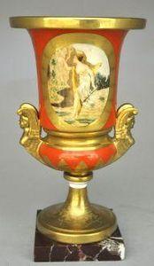 Demeure et Jardin - urne style empire orange - Ziervase