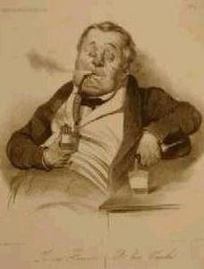 Galerie Laurencin - le vrai fumeur - Lithographie
