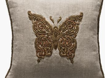 De Le Cuona - butterfly metal  - Kissen Quadratisch