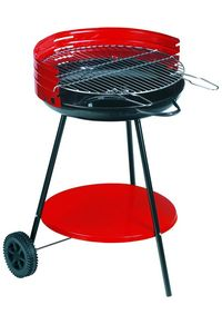 Dalper - barbecue à charbon sur roulettes camping surface c - Holzkohlegrill