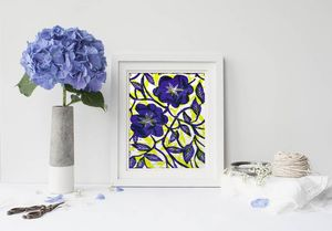 la Magie dans l'Image - print art fleurs bleues - Dekobilder