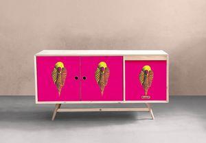 la Magie dans l'Image - adhésif perroquet rose - Sticker