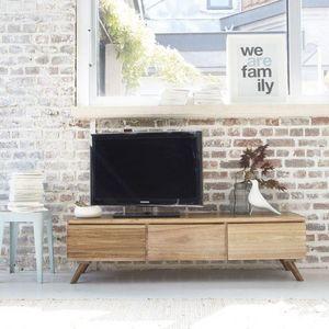 BOIS DESSUS BOIS DESSOUS - meuble tv en bois de mindy 150 oslo - Hifi Möbel