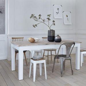 BOIS DESSUS BOIS DESSOUS - table en bois d'acajou et teck 180 londres - Rechteckiger Esstisch