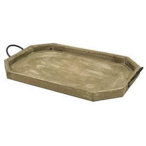 CHEMIN DE CAMPAGNE - grand serviteur plateau en bois 69,5 cm - Tablett