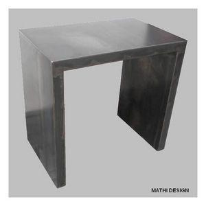 Mathi Design - petit bureau acier brut patine - Schreibtisch