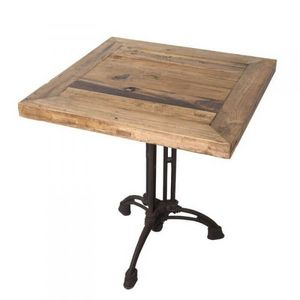 Mathi Design - table carrée bois brasserie - Bistrotisch