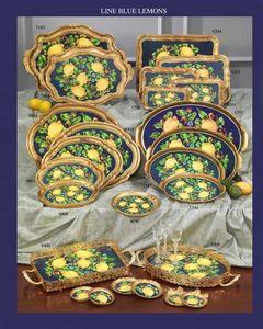 Tirinnanzi - line blue lemons - Tablett