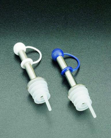 WHITE LABEL - Flaschenkorken mit Gießöffnung-WHITE LABEL-Lot de 2 bouchons verseurs en inox