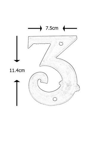 BEST FOR BOOTS - Hausnummerschild-BEST FOR BOOTS-Numéro de maison en Fonte 3 11,4x7,5x1cm