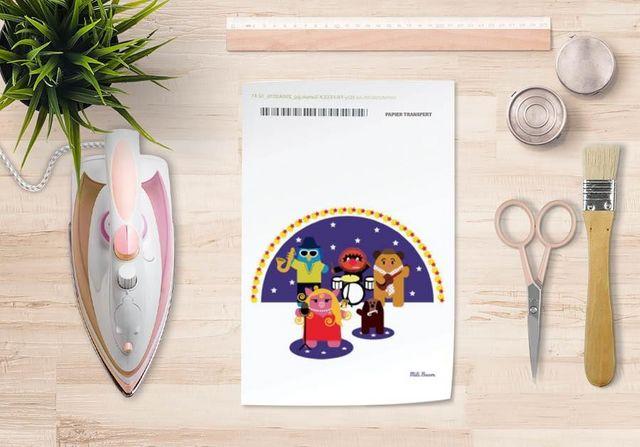 la Magie dans l'Image - Verlegung-la Magie dans l'Image-Papier transfert Héros Muppet