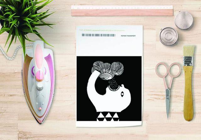 la Magie dans l'Image - Verlegung-la Magie dans l'Image-Papier transfert Pluie Noir & Blanc