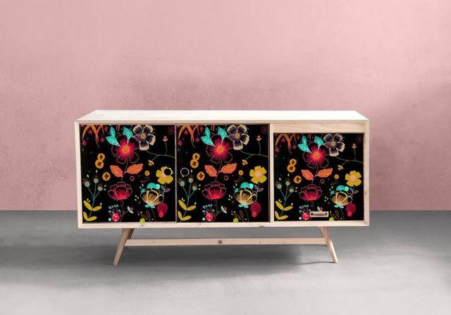 la Magie dans l'Image - Sticker-la Magie dans l'Image-Adhésif Happy Flowers