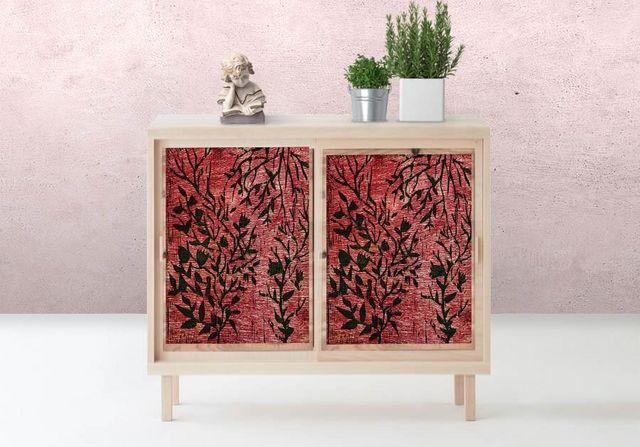 la Magie dans l'Image - Sticker-la Magie dans l'Image-Adhésif Plantes Rouges