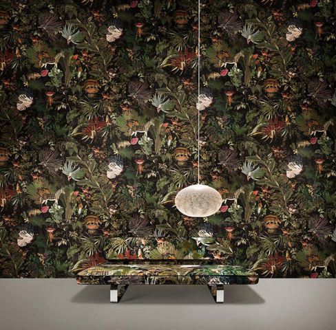 MOOOI Wallcovering - Tapete-MOOOI Wallcovering-Menagerie of extinct animals