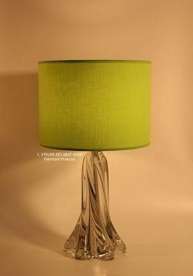 L'ATELIER DES ABAT-JOUR - Lampenschirm-L'ATELIER DES ABAT-JOUR-Cylindrique Vert