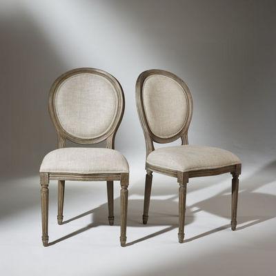 Robin des bois - Medaillon-Stuhl-Robin des bois-2 Chaises Médaillon Lin Premium