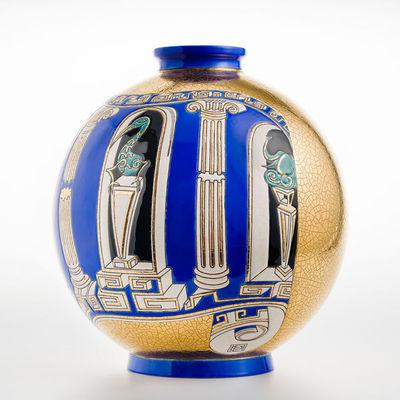 Emaux de Longwy 1798 - Große Vase-Emaux de Longwy 1798-METAPHORE