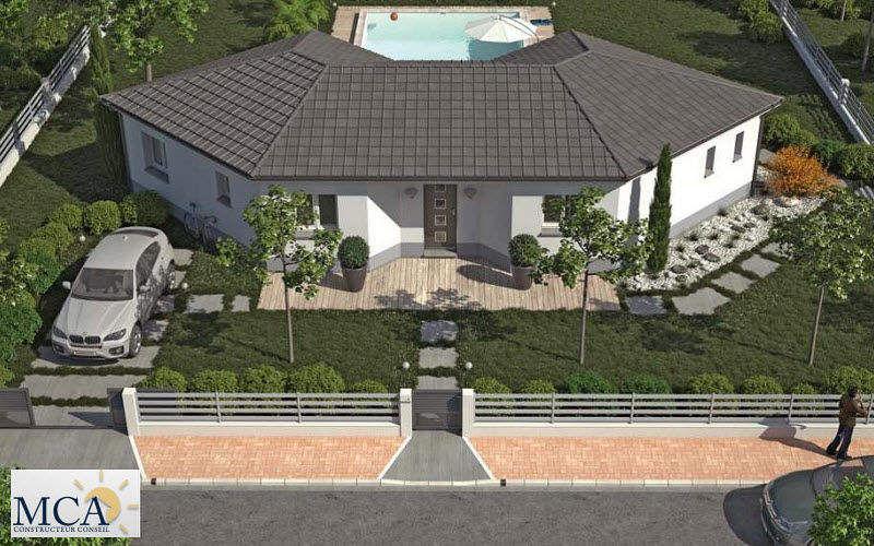 MAISONS MCA Casa individual Casas individuales Casas isoladas Espacios urbanos | Design Contemporáneo