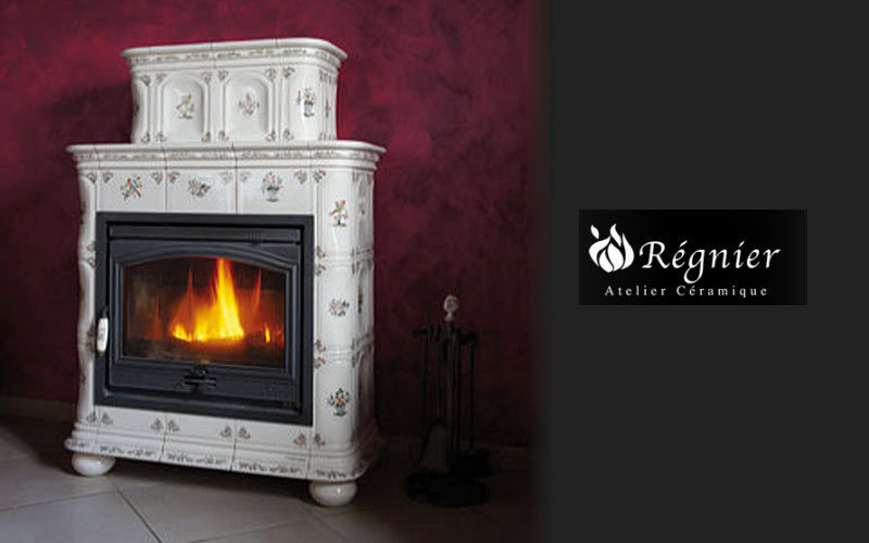 Ceramique Regnier Estufa de madera Estufas e instalaciones de calefacción Chimenea Comedor | Rústico